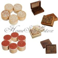Multi Style Retro Rubber Stamp Wooden Box Handwrite Alphabet Letter Number Tool