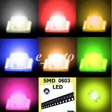 100pcs 0603 Red Blue Green Yellow Orange Super Bright LED LEDs Lamp Light SMD