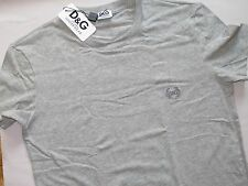 Nwt DOLCE & GABBANA D&G Gray Stretch Cotton Logo T-Shirt Underwear With Box