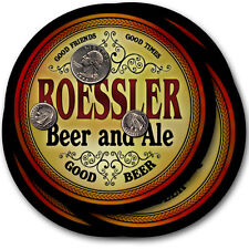 Roessler Beer and Ale Coasters - 4pak - Great Gift