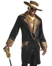 Pimp Sugar Daddy 70's 80's Gangster Adult Mens Outfit Halloween Costume