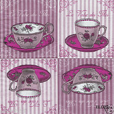2 OU 3 SERVIETTES EN PAPIER TASSES THE ROSES VALSE DES THES NAPKINS CUP OF TEA