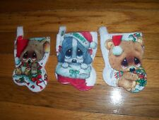 """Vintage Giordano 5"""" Christmas Stocking Gift Card Holder U Pick NOT a LOT"""