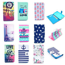 Wallet Magnetic Patterned Flip Leather Stand Soft Case Cover For Various Phones