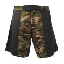 Rothco MMA Mixed Martial Arts Fighting Shorts in Black and  Woodland Camouflage