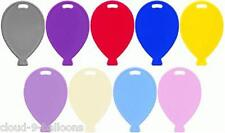 6 Balloon Shaped Plastic Balloon Weights - Many Colours Available