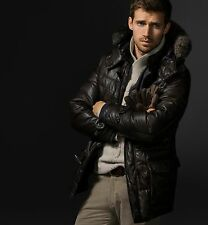 MASSIMO DUTTI MEN's SHORT QUILTED DOWN COAT LIMITED EDITION. NEW SEASON AW 2014