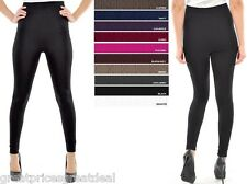 Lot 1 or 3 LADIES CABLE KNIT FOOTLESS FLEECE TIGHT Leggings TX200 Sofra Fit S-XL