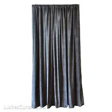 Solid Black Very High Thick Sound Proofing Cotton Velvet 20ft Curtain Long Panel
