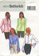 Butterick 4024 Misses Shirt Sewing Pattern ~ Blouse ~ Top