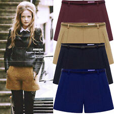 Autumn/Winter Women Woolen Shorts Casual Bootcut Short Trouser Pants Shorts