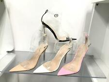 WOMENS  LADIES ANKLE STRAP POINTED TOE PARTY HIGH HEEL COURT SHOES SIZE 3-8