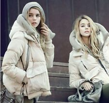 Womens Down Jackets white eiderdown hooded thick long sleeved coat b11