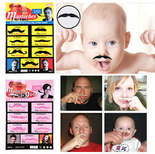 Cosmetic Fancy Self Adhesive Mustaches 7 Days Different Chic Style Costume Party