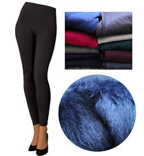 Better Quality Fur Style SEAMLESS Plain Tight Warm Thick Stretchy Fleece Legging