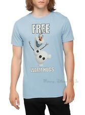 NEW Disney Frozen OLAF Free Warm Hugs Slim Fit T-Shirt Tee Adult Top XXS-L