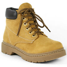 Blond Brown Faux Suede Lace Up Desert Ankle Work Boot Bootie Soda Tanic-s