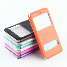 Hot Sale View Window Pocuh Flip Leather Soft Case Cover For iPhone 6 Plus /Jaccy
