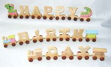 NEW PERSONALISED WOODEN LETTERS WORD TRAIN NAME BIRTHDAY TOY GIFT LEGLER