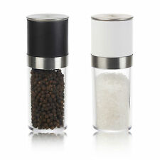 Salt And Pepper Mill Twist Grinder Set Acrylic Kitchen Condiment Shakers Rock