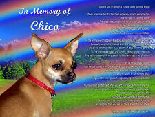 Chihuahua Dog Memorial Picture-Custom Personalized w/ Your Pet's Name