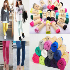 Hot Women Lady Candy Colors Fall Cotton Soft Stretch Skinny Tight Legging Pants