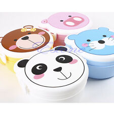 Kid Cartoon Microwaveable Two Layer Plastic Lunch Meal Bento Box Case Set Spoon