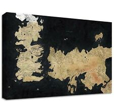 GAME OF THRONES MAP CANVAS | LARGE WALL ART | westeros vintage snow got