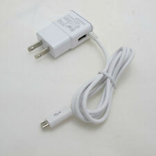 New White Rapid Dual Port 2 Amp Travel Home Wall Charger for Micro USB Phones