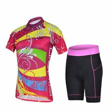 Women's Breathable Cycling Suit Bicycle Jersey Shorts Set Bike Sports Wear S-XXL