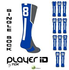 Player ID Elite Number Sock, Royal Blue - (Blank,0-9) - (Buy 2 for a pair)