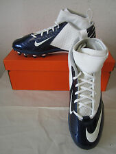 New Nike Lunar Super Bad Pro TD Football Cleats White & Navy 511334 113