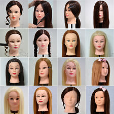 16 Styles Real Human Hair Hairdressing Training Head Mannequin + Free Clamp New