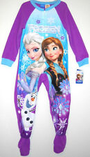 Disney Frozen ELSA ANNA OLAF Girls Footed Blanket Sleeper Sleepwear PJ's Pajama