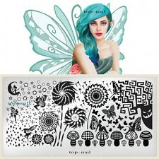 New 1x 60*120mm Nail Art Image Stamp Stamping Plates Manicure Template JH013