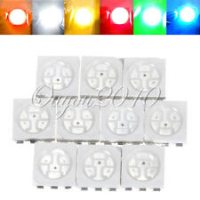 10/50/100X pcs 5050 SMD SMT PLCC-6 3-CHIPS White Red Yellow Blue Green LED Light