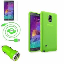 Frost Colors TPU Gel Skin Case+3in1 Combo Accessory For Samsung Galaxy Note IV 4