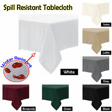 SPILL RESISTANT Tablecloth  - ROUND SQUARE RECTANGLE 6-8, 8-10, 10, 10-12 Seater