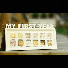 My First Year Birthday Pics Baby Photo Picture Frame