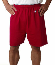 Champion Cotton Gym Shorts Adult Workout Exercise Sports Men's 6'' New 8187