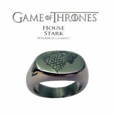 Game of Thrones Stark Fimaly Direwolf Wolf Totem Men's Rings Silver Tone Rings