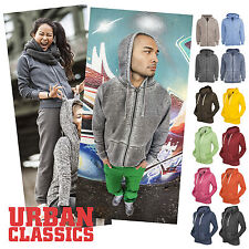 URBAN CLASSICS   Spray Dye / Burnout Zipper Hoody Jacke Herren / Damen