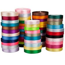 25Yds 3mm--38mm Satin Ribbon Bow Wedding Craft Sewing Decorations Various color