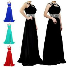 2014 Long Chiffon Evening Formal Bridesmaid Wedding Ball Gown Prom Party Dresses