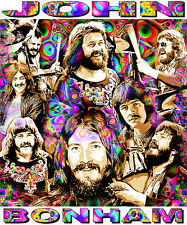 JOHN BONHAM TRIBUTE T-SHIRT OR PRINT BY ED SEEMAN