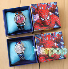 wholesale spiderman boy Children Wristwatch Watches With Boxes Party Favors