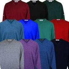 2019 PROQUIP Water Repellent Mens V-Neck Lambswool Sweater Jumper Golf Pullover