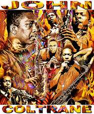 JOHN COLTRANE TRIBUTE T-SHIRT OR PRINT BY ED SEEMAN