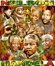 NELSON MANDELA TRIBUTE T-SHIRT OR PRINT BY ED SEEMAN