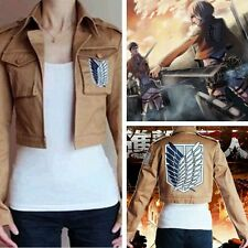 Attack On Titan Shingeki No Kyojin Stylish Jacket Coat Training Camp Cosplay